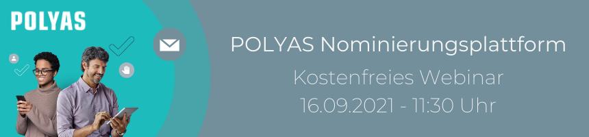 Webinar zur POLYAS Nominierungsplattform
