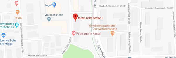 Hier finden Sie die Adresse der POLYAS-Zentrale in Kassel