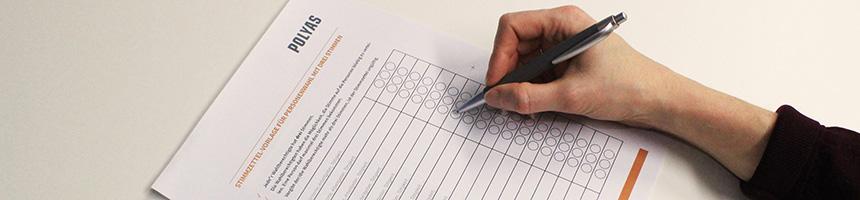 Stimmzettel-Vorlagen für die Delegiertenwahl